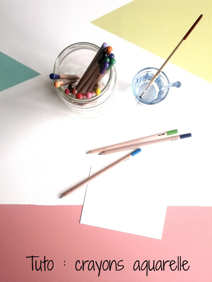 Tuto crayons aquarelle